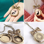Vintage bunny locket