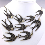 Swallows Statement Necklace