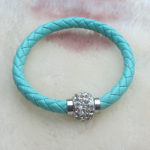 Light blue woven bracelet