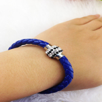 Electric blue woven bracelet