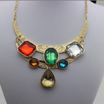 Gems bib necklace