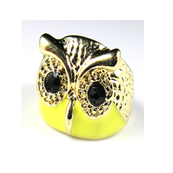 yellow owl ring